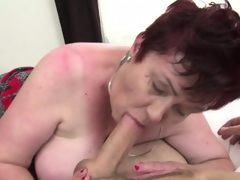 Huge titted hairy granny gets banged..