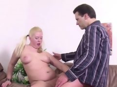 Daddy seduce step-daughter to fuck..