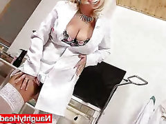 Strange blond-haired big tits mom in..
