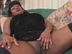 Black fatty fucked up her fat ass
