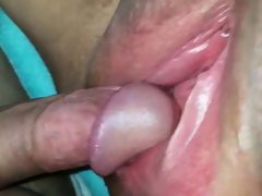 Bbw gets her shaved pussy creamed..