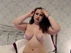 Chubby beauty teasing