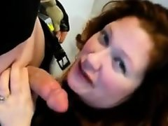 Fat redhead gets fucked on the floor