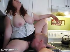 Milf bbw jennifer gets a creampie in..