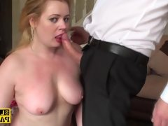 Throatfucked uk sub spanked until red..
