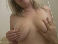 Chubby blonde girlfriend wants to ride..