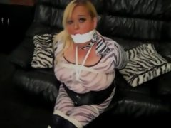 Harness gagged & hogtied