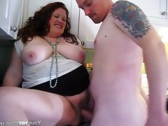 Milf jennifer gets a creampie in the..