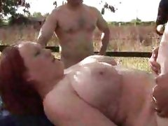 Huge tits 19 yrs redhead dogging with..