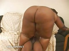Huge fat black babe rides