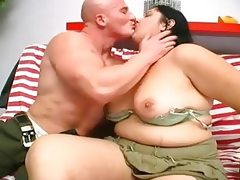 Fat stretchmarked ugly bbw whale gets..