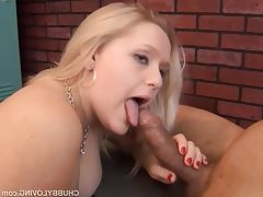 Big tits chubby blond beauty is a..