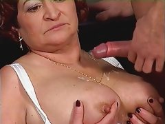 Chubby mature and her dildo