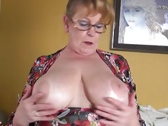 Old busty grandmother hungry for a..