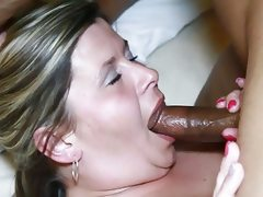 Wife tastes her pussy after deep..