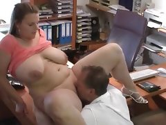 Sexy german bbw gets fucked at job..