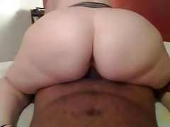 Thick wife rides bbc while hubby's at..