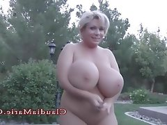 Claudia marie chubby and has her huge..